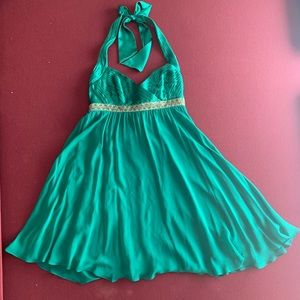 Beautiful Green Adrianna Papell Party Dress!